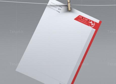 طراحی سربرگ شرکت اطلس فراز