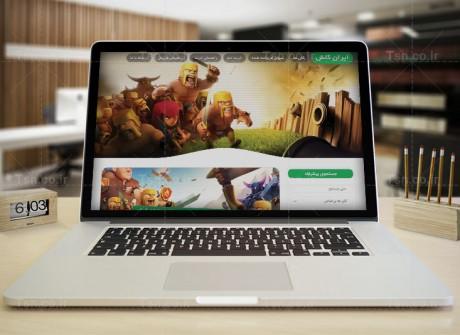 طراحی وب سایت فروش اکانت کلش