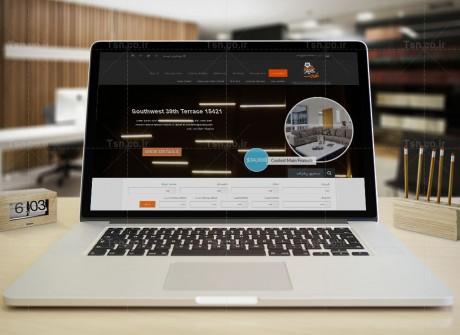 طراحی وب سایت املاک غروب کیش