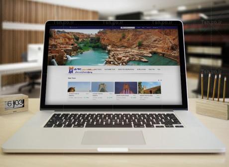 طراحی وب سایت آژانس مسافرتی پارس