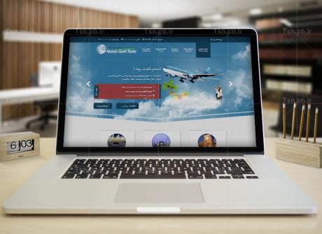 طراحی وب سایت آژانس مسافرتی روشا