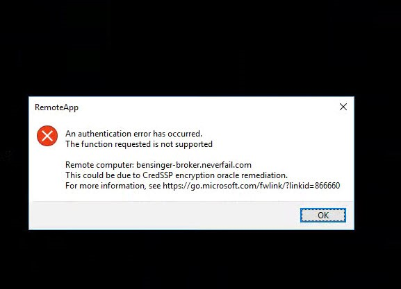 CredSSP Encryption Oracle Remediation