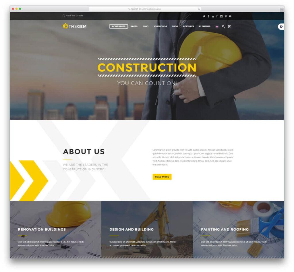 طراحی سایت خدمات ساختمان
