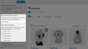 افزونه مرتب سازی محصولات ووکامرس