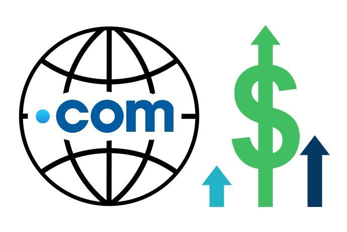 افزایش قیمت دامنه COM